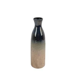 Contemporary Ceramic Bottle Vase with Narrow Neck, Multicolor
