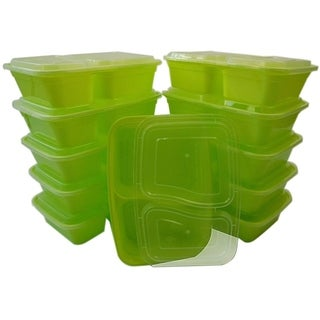 Table to Go 240-Pack Bento Lunch Boxes with Lids (2 Compartment/ 32 oz)
