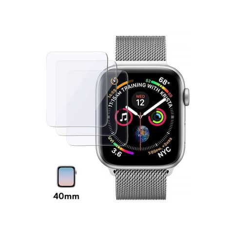 Insten for Apple Watch Series 4 Series 5 40mm/44mm 3 Pack Clear Tempered Glass Screen Protector