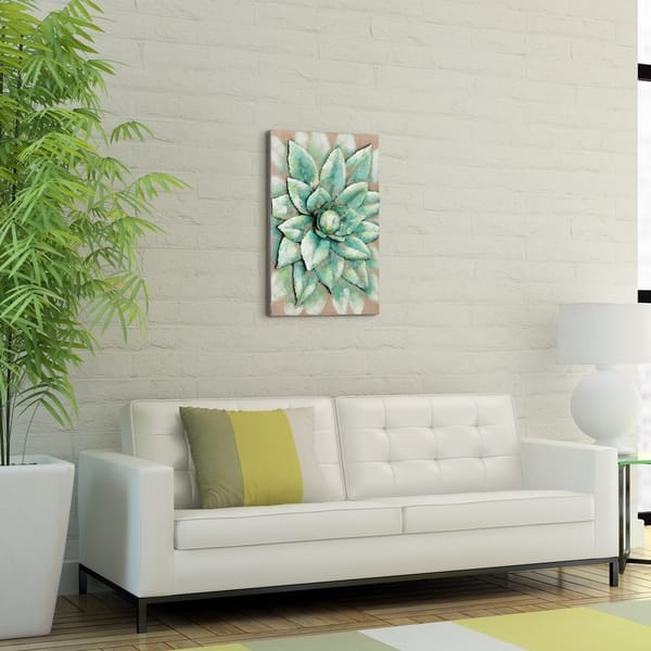 Empire Art Direct Succulent Primo Mixed Media Iron Hand Painted Dimensional Wall Art Overstock 27472834