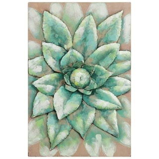 Empire Art Direct Succulent Primo Mixed Media Iron Hand Painted Dimensional Wall Art