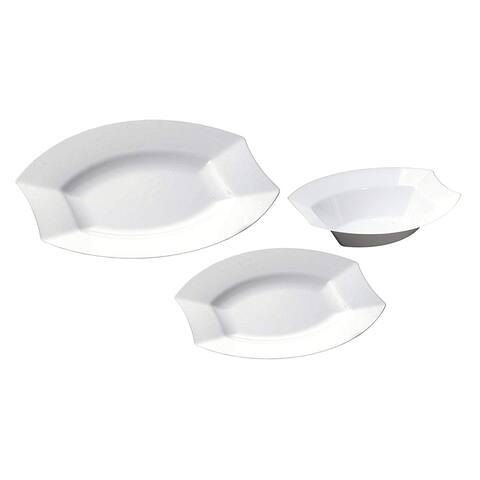 Table To Go 'I Can't Believe Its Plastic' 18 Oz Bowls, 200 Pieces, Collection - Moderno, Color - Bone