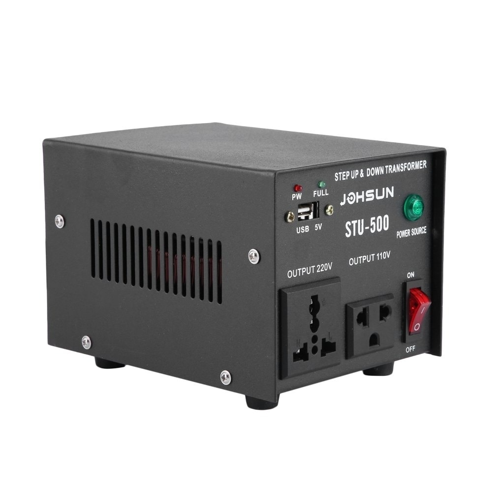 STU 500 W Watt Step Up Down 110V 220V USB Voltage Converter Transformer USA BT