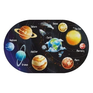 "Flagship Carpet Kids Nylon All The Planets In My Solar System Classroom Seating Rug - 7'6"" x 12' - 7'6"" x 12'"