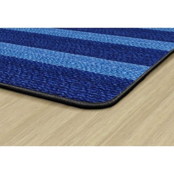 Flagship Carpet Kids Nylon Cozy Basketweave Stripes Classroom Seating Rug Blue 6 X 8 4 6 X 8 4 Overstock 27479126