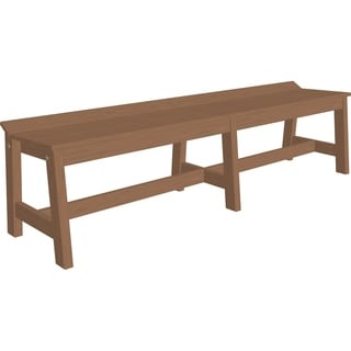 """72"""" Outdoor Café Dining Bench in Woodgrain Colors"""