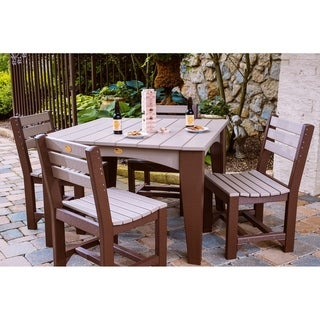 Outdoor Island Dining Set - Table and 4 Chairs