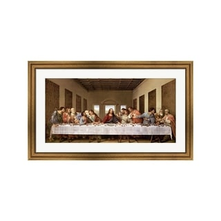 Leonardo Da Vinci 'The Last Supper' Framed Art