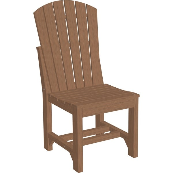 Set Of 2 Outdoor Adirondack Side Dining Chair In Woodgrain Colors