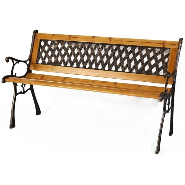Fabulous Shop Patio Garden Park Yard 49 Outdoor Wooden Bench Free Alphanode Cool Chair Designs And Ideas Alphanodeonline
