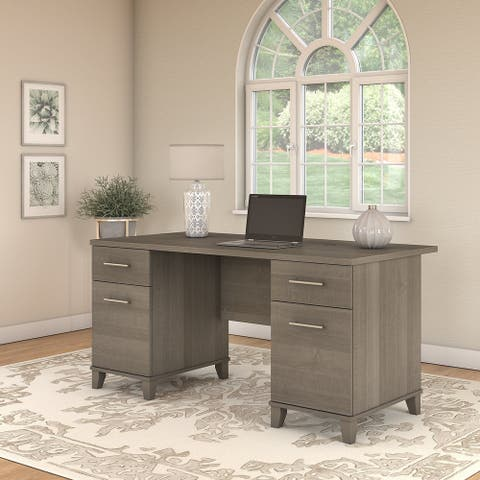 Copper Grove Shumen 60-inch Office Desk in Ash Gray