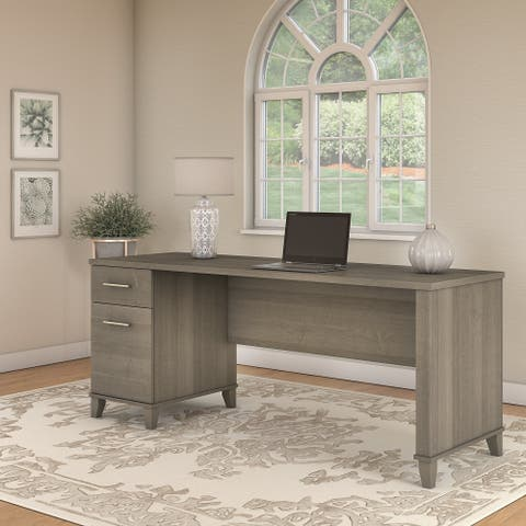 Copper Grove Shumen 72-inch Office Desk with Drawers in Ash Gray