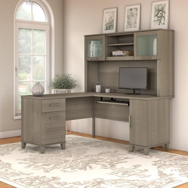 Shop Copper Grove Shumen 60 Inch L Shaped Desk With Hutch