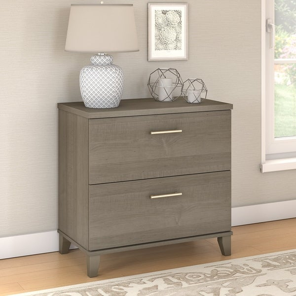 Ash Grey Cabinets Kitchen: Shop Copper Grove Shumen Lateral File Cabinet In Ash Gray