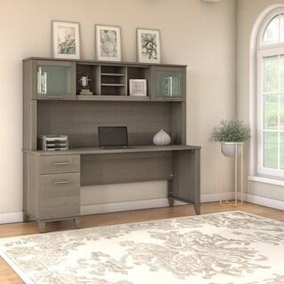 Copper Grove Shumen 72-inch Office Desk with Hutch in Ash Gray
