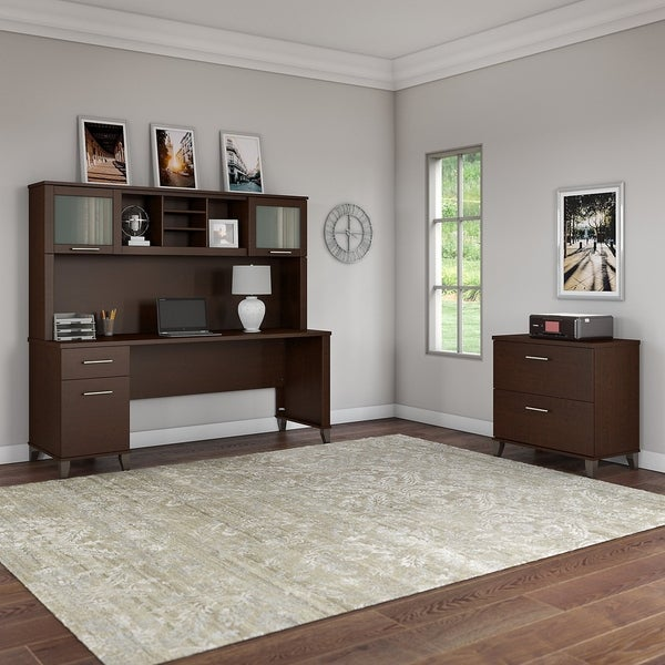 Copper Grove Shumen 72-inch Office Desk with Hutch and File Cabinet. Opens flyout.