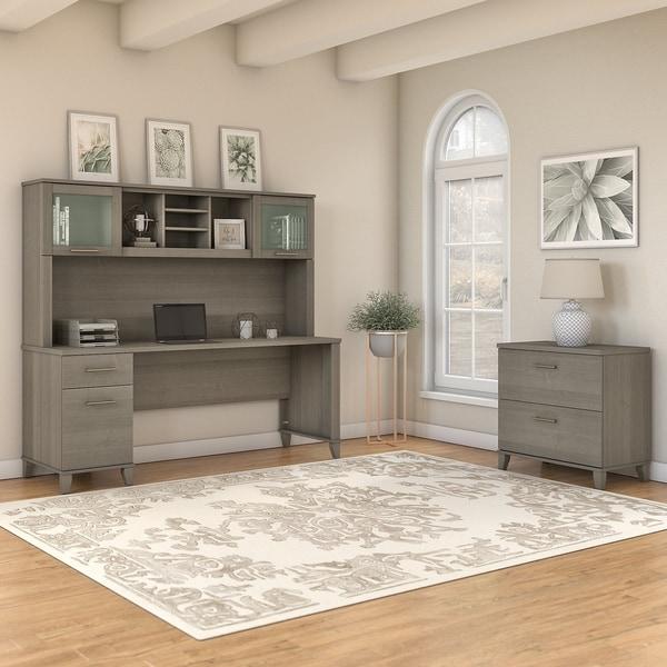 Shop Copper Grove Shumen 72 Inch Office Desk With Hutch