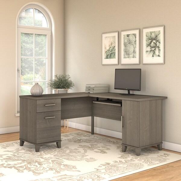 Ash Furniture Store: Shop Copper Grove Shumen 60-inch L-shaped Desk In Ash Gray