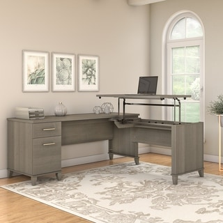 Copper Grove Shumen 72-inch 3-position Sit to Stand Corner Desk