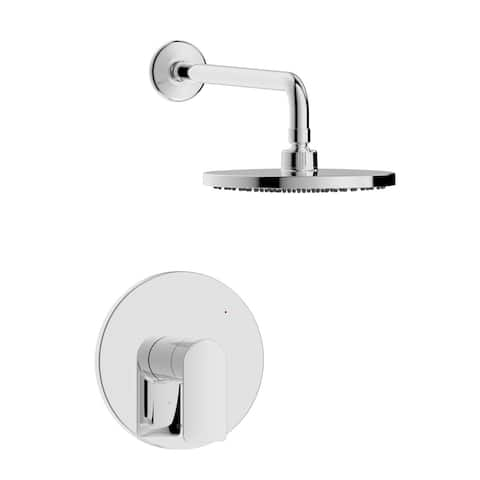 Pont Neuf Single Handle Shower Trim Set with Rough-in Valve
