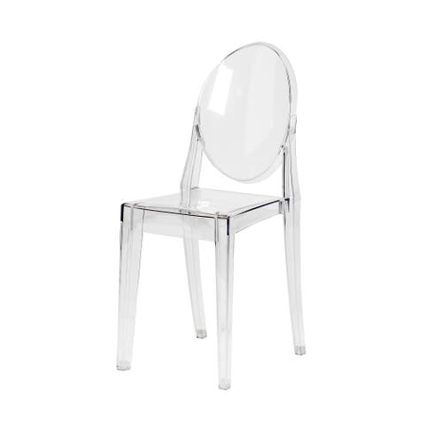Modern French Side Chair in Clear