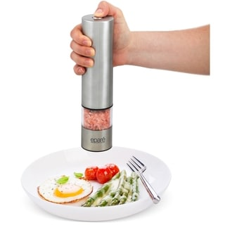 Epare Salt or Pepper Grinder - Adjustable Battery Powered w/ LED Light