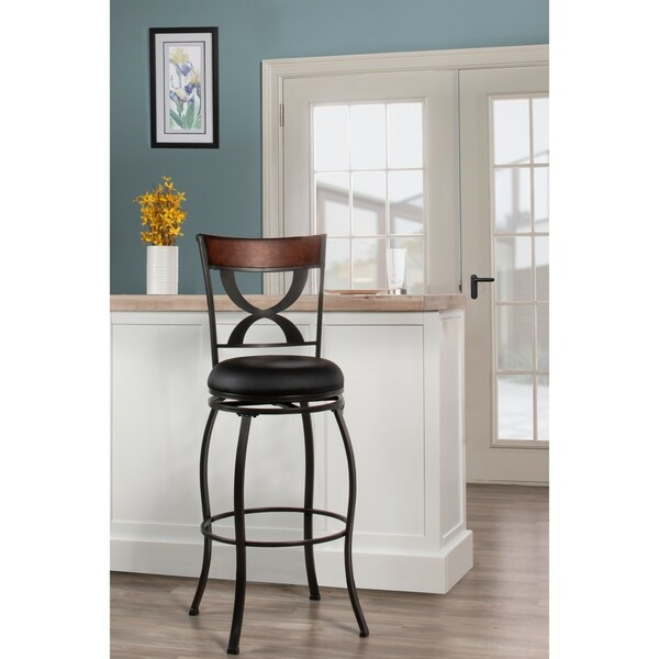 Shop Copper Grove Essonnes Swivel Pewter Bar Height Stool