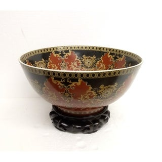 Regal Medallion Round Porcelain Bowl w/ Stand
