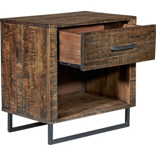 Shop Tommy Hilfiger Underhill Nightstand Distressed Wood
