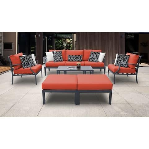 Lexington 8 Piece Outdoor Aluminum Patio Furniture Set 08c