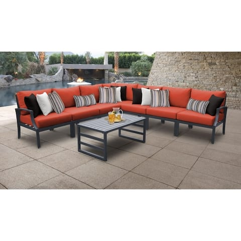 Moresby 8-piece Outdoor Aluminum Patio Furniture Set 08a by Havenside Home
