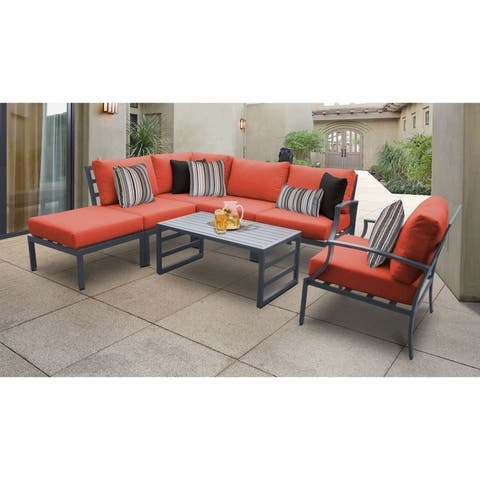 Lexington 7-piece Outdoor Aluminum Patio Furniture Set 07f