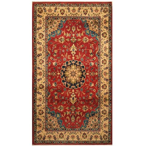 Handmade One-of-a-Kind Kazak Wool Rug (Afghanistan) - 3'3 x 5'9