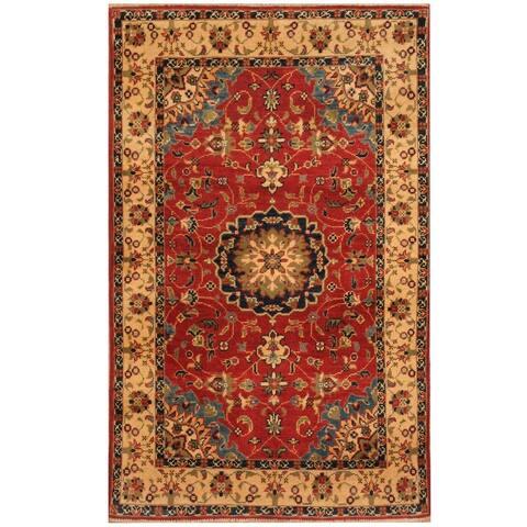 Handmade One-of-a-Kind Kazak Wool Rug (Afghanistan) - 3' x 4'10