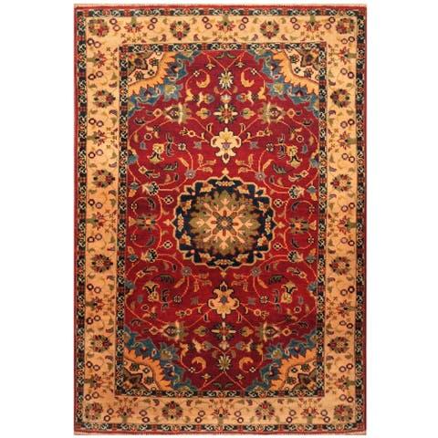 Handmade One-of-a-Kind Kazak Wool Rug (Afghanistan) - 3'4 x 5'10