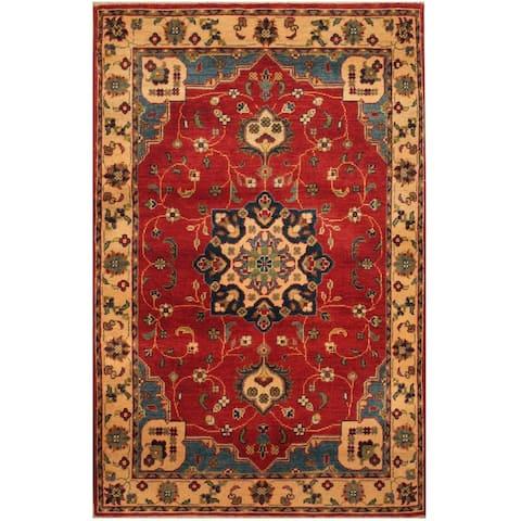 Handmade One-of-a-Kind Kazak Wool Rug (Afghanistan) - 3'2 x 4'10