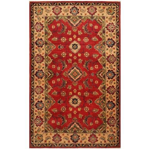 Handmade One-of-a-Kind Kazak Wool Rug (Afghanistan) - 3'1 x 5'1