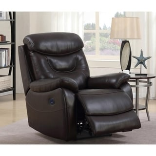 Thomas Premium Top Grain Leather Power Recliner Chair