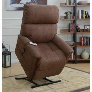 Carson Brown Fabric Power Motorized Lift Chair Recliner