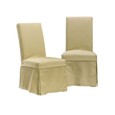 HomePop Slipcovered Dining Chair - Taupe (Set of 2)