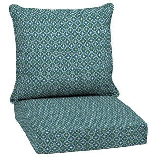 Arden Selections Alana Tile Outdoor Deep Seat Set in Blue (As Is Item)