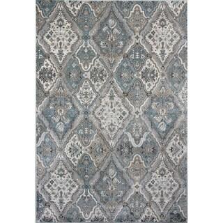 Domani Adaline Silver/Blue Traditional  Area Rug