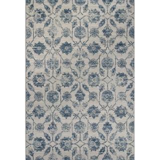 Domani Madison Ivory/Blue Floral Area Rug