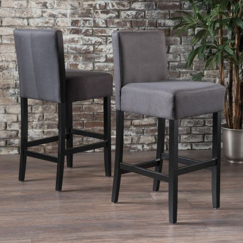 Portman 42-inchFabric Backed Barstool (Set of 2) by Christopher Knight Home