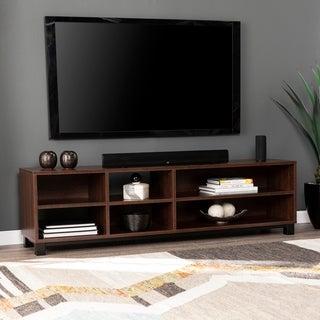 Copper Grove Ansfelden Walnut-finish Wood Modern Open Media Stand