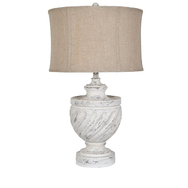 Swirled 29 Antique White Table Lamp