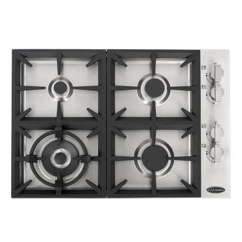 30 in. Gas Cooktop in Stainless Steel with 4 Italian Made Burners - 30 Inches