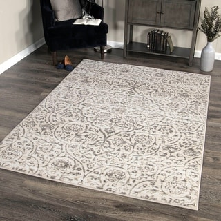 Berkeley Contemporary Area Rug in Cream/Grey
