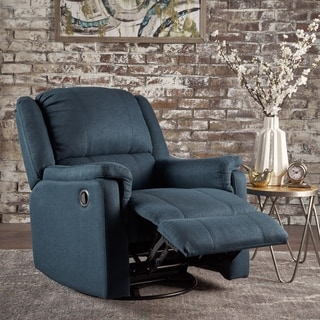 Link to Christopher Knight Home Jennette Fabric Swivel Gliding Recliner Similar Items in Living Room Chairs