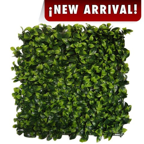 Indoor/Outdoor Cancun Flowering Artificial Foliage Wall Panels - Green